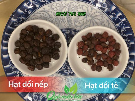 phân biệt hạt dổi nếp và hạt dổi tẻ