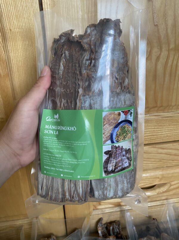 măng khô rừng Tây Bắc đóng gói 500g